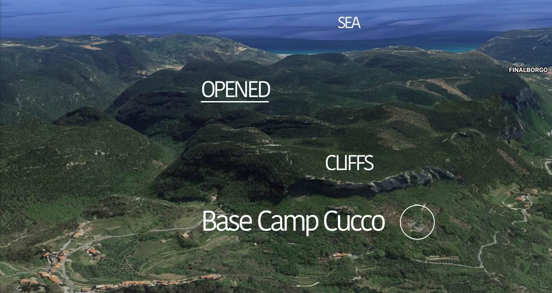 base camp cucco climbing monte cucco